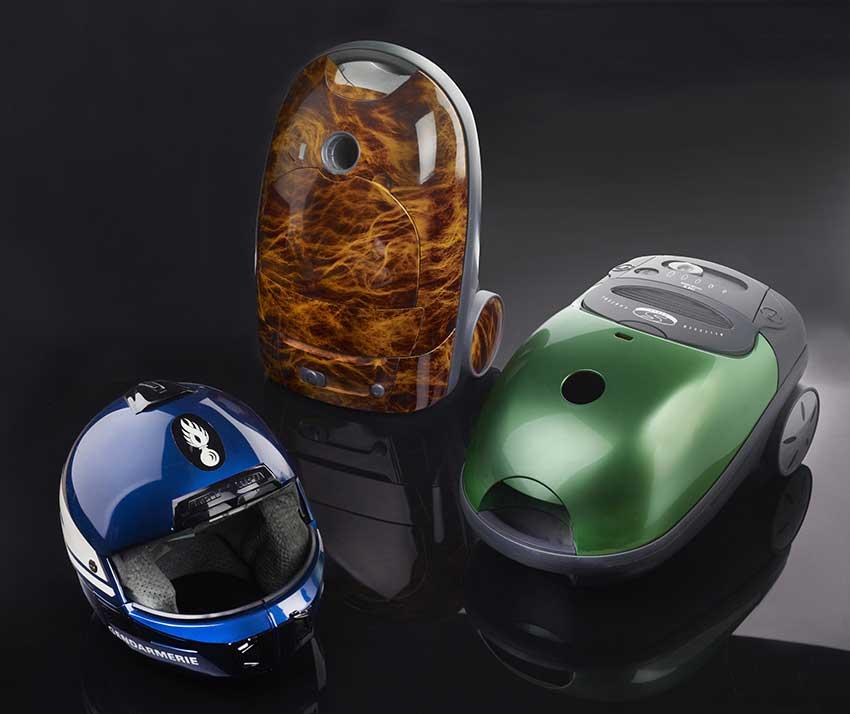 Création d'un nouveau décor sur les coques d'aspirateurs.