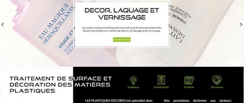 Nouveau site internet des plastiques décorés