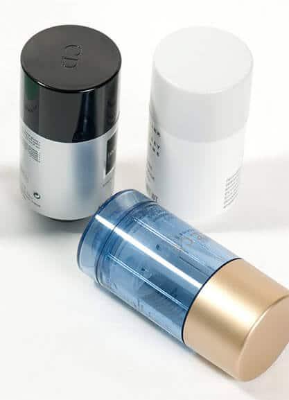 Peinture et vernis sur emballage cosmétique